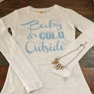 NWT Original Cowgirl Company Baby It's Cold Tee